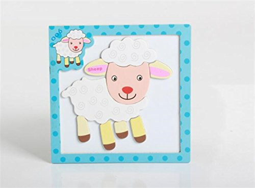 Sevenpring Child Learning Puzzle Wooden Magnetic Peg Puzzle Safe Education Learning Toy Fantastic Gifts for Kids(Sheep) ()