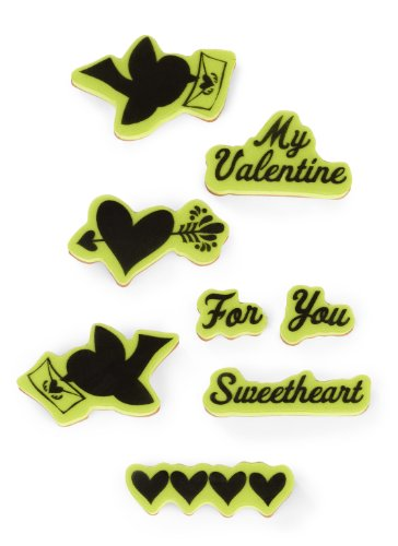 Stamps Inkadinkaclings Rubber - Inkadinkado Folk Valentine Cling Stamp