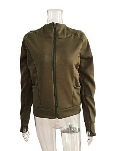 Cappuccio A College Manica Giacche Militare Casual Parka Clothing Hoodie Lunga Donna Cappotti Sport Verde Autunno Tops Coco Con Felpe 8x6tqRwS0