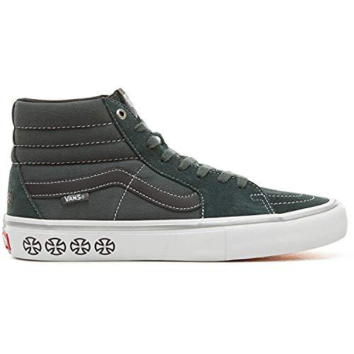 (Vans Men's Shoes SK8-Hi Pro Suede/Canvas Spruce White Sneakers (9 D(M) US Men/10.5 B(M) US Women))