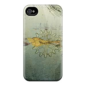 Excellent Iphone 4/4s Case Tpu Cover Back Skin Protector Gears Of Time