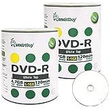 Smartbuy 200-disc 4.7gb/120min 16x DVD-R White Top Blank Data Recordable Media Disc