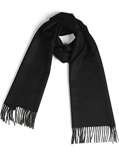 Luxurious 100% Premium Baby Alpaca Scarf - Ultimate Softness - for Men and Women (Black) ()