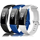 Find-MyWay Compatible Fitbit Inspire HR Bands/Fitbit Inspire Band, Inspire Replacement Accessories Soft Silicone Bracelet Women Men Sport Wristband Breathable Strap for Inspire HR Fitness Trackers