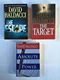 David Baldacci (3 Book Set) The Escape -- The Target -- Absolute Power