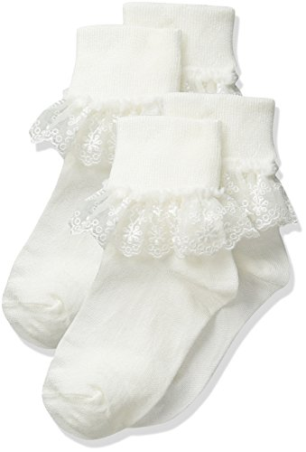 Snow Queen Stocking - Jefferies Socks Snow Queen Lace 2 Pack Infant/Toddler/Little Kid/Big Kid Ivory Girls Shoes