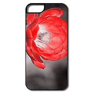 IPhone 5 5S Covers, Claret Cup Cactus Black White Flower White/black Cases For IPhone 5S