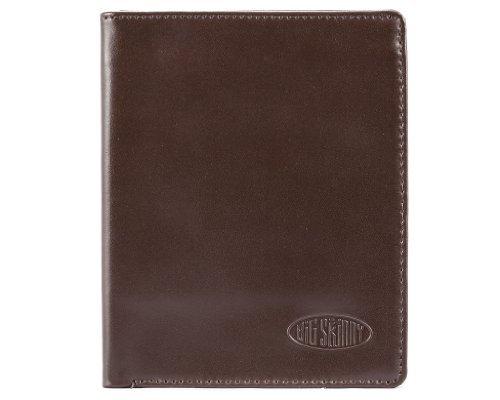 Big Skinny Men's Hipster Leather Bi-Fold Slim Wallet, Holds Up to 40 Cards, Brown