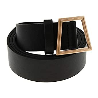 Lovoski Womens Dress Belt Genuine Leather Waist Belt Adjustable Waistband Mens Strap Clothing Accessories - Black, as described