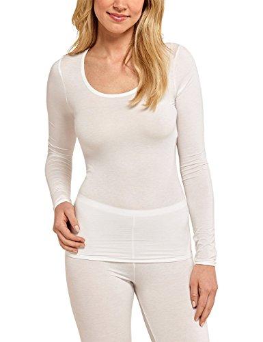 Schiesser Damen Unterhemd Personal Fit Shirt 1/1 Arm, Beige (Naturweiss 412), 38 (Herstellergröße: M)