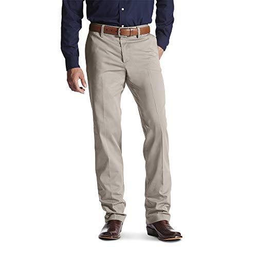 ARIAT Men's M2 Relaxed Performance Khaki Boot Cut Pant Stone Size 35W X 36L - Khaki Mens Boots