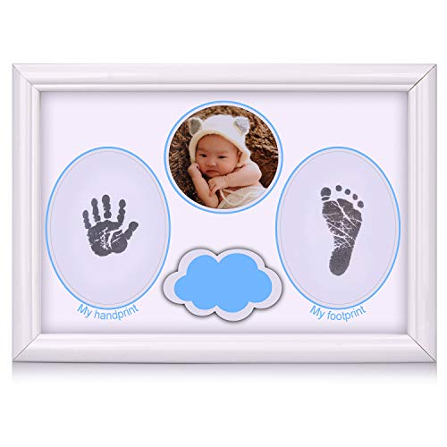 - ESEOE Baby Footprint Kit, Baby Picture Frame Baby Handprint kit, Perfect for Baby Boy Gifts and Safe for Baby Girl Gifts, Newborn/Baby/Kid Keepsake Frames