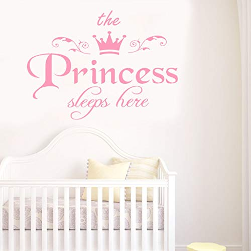 (The Princess Letters Wall Sticker Decal,Creative Living Room Bedroom Vinyl Carving Wall Decal Decors(Pink))