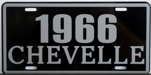 Motown Automotive Design 1966 66 Chevelle Metal License Plate SS Super Sport 327 350 396 454 FITS Chevy TAG 6 X 12 HOT Rod Muscle CAR Classic Museum Collection Novelty Gift Sign
