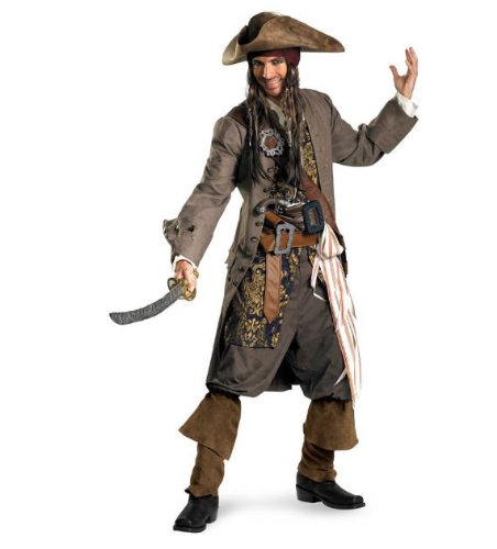 Captain Jack Sparrow Theatrical Costume - XX-Large - Chest Size 50-52