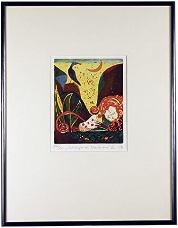 Artland Grafik gerahmt Passepartout Kunst Rosa 77x107 cm B7HU
