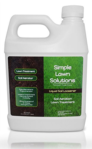 (Liquid Aerating Soil Loosener- Aerator Soil Conditioner- No Mechanical or Core Aeration- Simple Lawn Solutions- Any Grass Type, All Season- Great for Compact Soils, Standing water, Poor Drainage.)