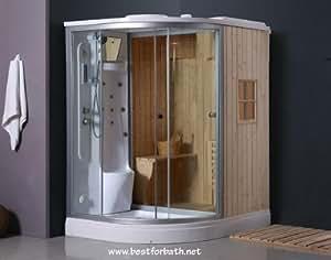 deluxe shower dry sauna combo system steam cabin b001. Black Bedroom Furniture Sets. Home Design Ideas