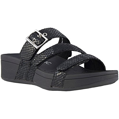 Black Rio Snake Womens Sandals Synthetic Pacific Vionic 8RqwXE