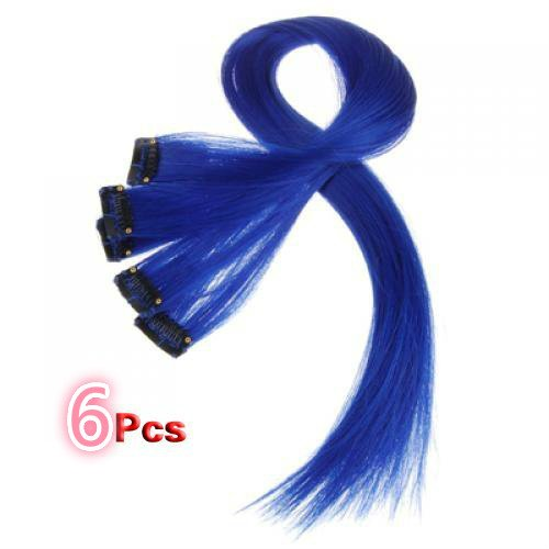18 Inch High light BLUE Clip in Human