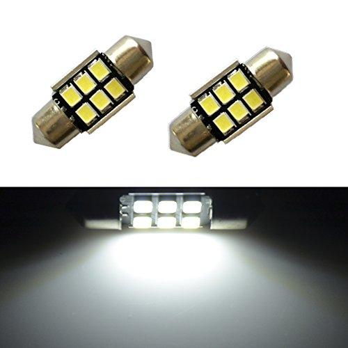 JDM ASTAR Super Bright AX-2835 Chipsets Error Free 1.25 inches DE3175 DE3021 DE3022 3175 LED Interior Map Dome Lights, Xenon White