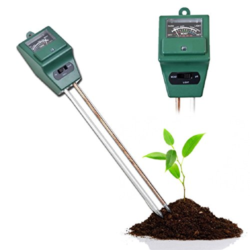 Gift, 3 in 1 PH Tester Soil Water Moisture Light Test Meter for Garden Plant Flower Mchoice by MChoice