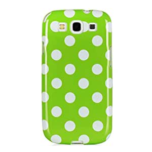 Mansion Jelly Mercury TPu Polka Dot Case for Samsung Galaxy S3 (Green)