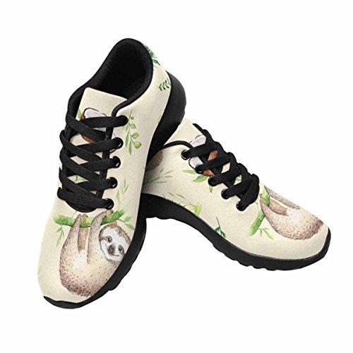 D-histoire Jogging Course Sneaker Paresseux Haning Sur Arbre Femmes Confort Décontracté Sport Marche Chaussures De Course Noir