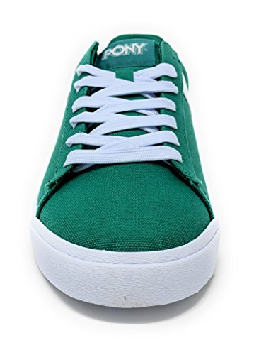 Pony Top Star Sneakers Basse Cvs Mens Sneakers Stringate Di Tela Kelly / Bianco 8 M