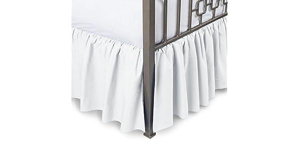 Amazon.com: Sleepwell Falda de cama con volantes, 100 ...