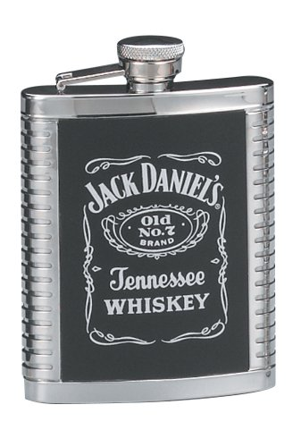 (Jack Daniels Ribbed Flask)