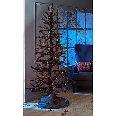 EVAXO Member's Mark 7 ft. Halloween Moving Tinsel Tree