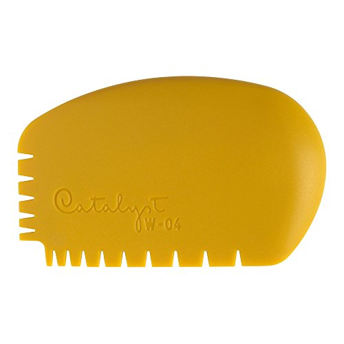 Princeton Artist Brush Catalyst Silicone Wedge Tool, Yellow W-04