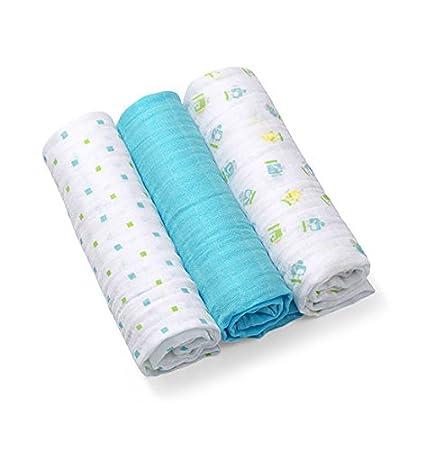 blau 3 Musselin Super Weichen Tuch Windeln