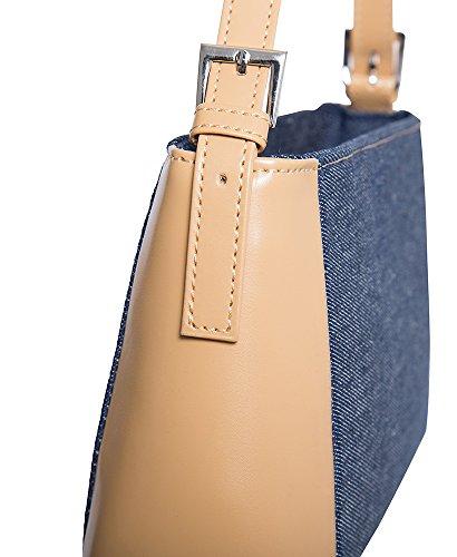 Hobo Handbag Classical Shoulder All by handbag Denim For Camel Handbags women Blue Medium YEwRTdOnY
