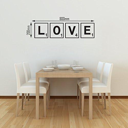 Vinilo de pared con texto en inglés: Love, letras de scrabble: Amazon.es: Hogar