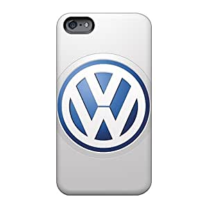 Customcases88 Apple Iphone 6s Protector Hard Cell-phone Cases Support Personal Customs Stylish Volkswagen Logo Series [wgM1534iSkp]
