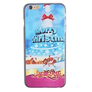 TOPQQ Merry Christmas Designs PC Hard Cover for iPhone 6 Plus