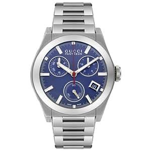 GUCCI Men's YA115413 115 Collection Pantheon Chronograph Watch