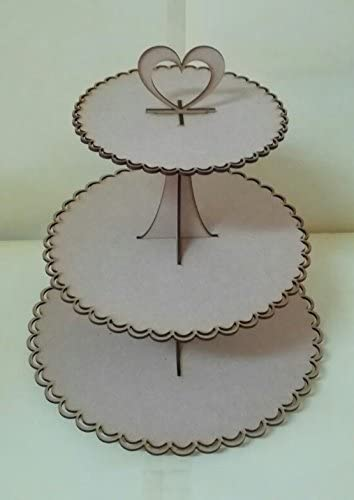 Kit para hacer bandejas 3 pisos de madera DM para candy bar mesa ...