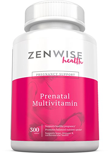 Prenatal Vitamins - Multivitamin With Folic Acid, Probiotics, Biotin and Vitamin A & C - Optimal Women's Supplement for Healthy Pregnancy – Brain, Bone, Immune & Heart Support - 300 Count Tablets (Vitamins Prenatal Iodine)