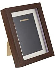 BESPORTBLE Shadow Box Display Case Wooden Medals Display Frame Shadow Box Multifunctional For Memorabilia Pins Awards Medals Photos 7inch Coffee