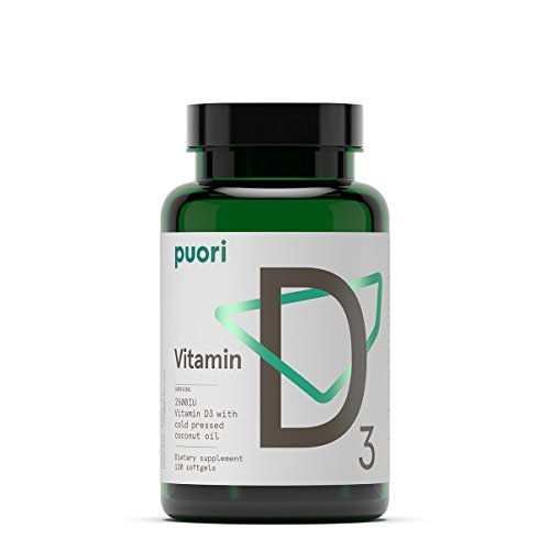 Organic Vitamin D3 Softgels 2500 IU | 120 Non GMO Vitamina D Soft Gel Capsules | Cholecalciferol Complex Caps | Natural Supplement for Women Men Kids