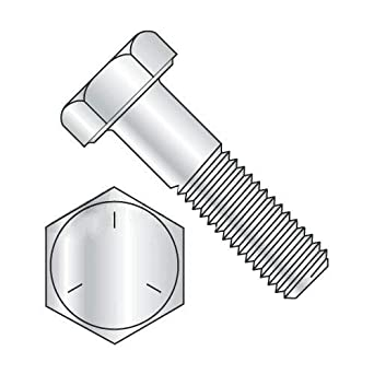 3//8-16 x 3 1//2 Hex Bolt//Coarse Thread//Partially Threaded 1 inches of Thread Quantity: 50 pcs Newport Fasteners 3//8 inch x 3-1//2 inch Hex Cap Screw Grade 5 Zinc Plated Steel Made in USA