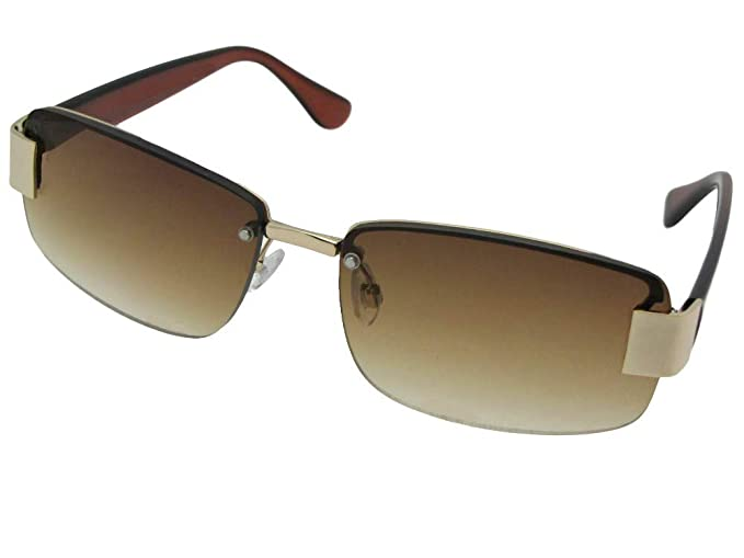 6b0c19d983 R43 Fashion Full Reader Lens Reading Sunglasses With Sunglass Rage Pouch (Gold  Frame-Brown