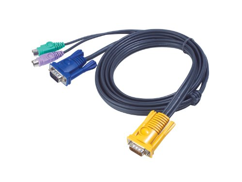 (ATEN PS2 KVM Cable - SPHD15 to VGA and PS2 2L5203P (10 Feet) )