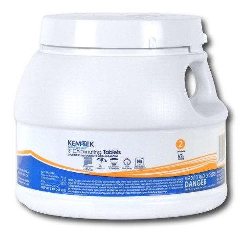 Kem-Tek 099 3-Inch Chlorinating Tablets for Pool and Spa, 3-Pound - Kem Tek Spa