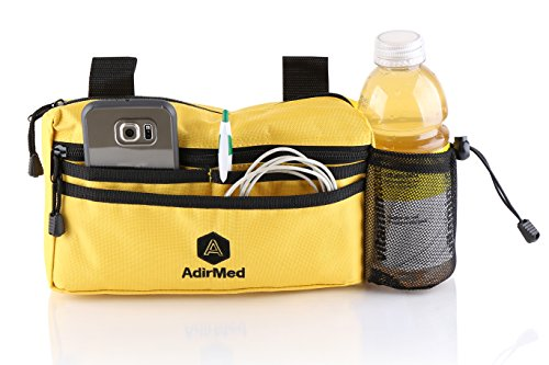 - AdirMed Wheelchair Pouch - Rollator Pouch - Walker Pouch - Yellow