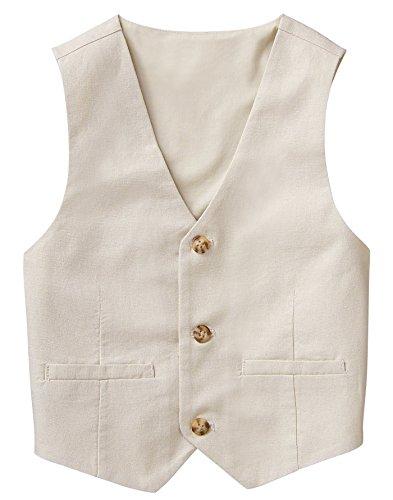 Gymboree Baby Boys 3-Button Linen Vest, Light