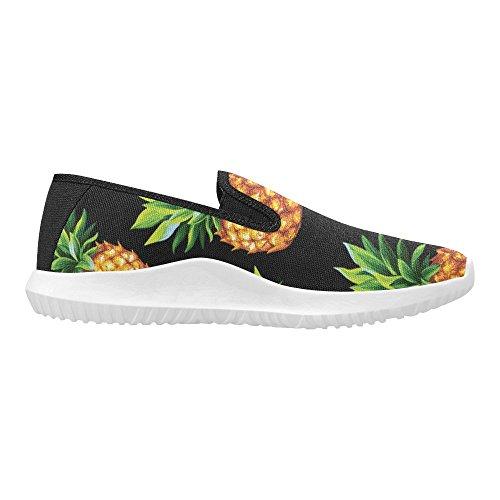 Interestprint Kvinna Slip-on Dagdrivaren Skor Duk Mode Sneakers Multi 7